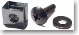 Clip Nuts and Rack Screws - 10-32 and M6 threads available.